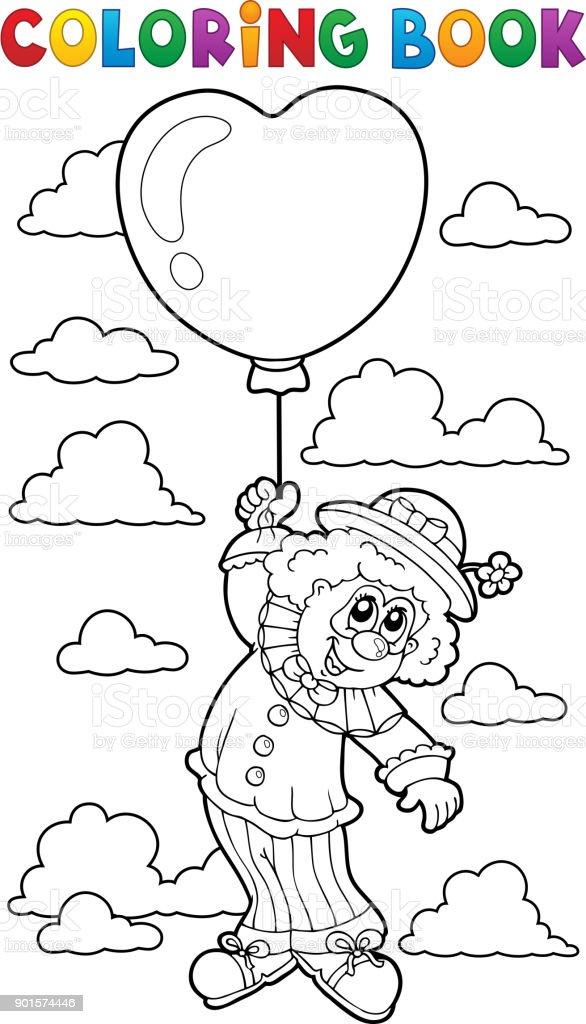 Yeni Balonlu Palyaço Boyama Yazdırılabilir Boyama Sayfaları