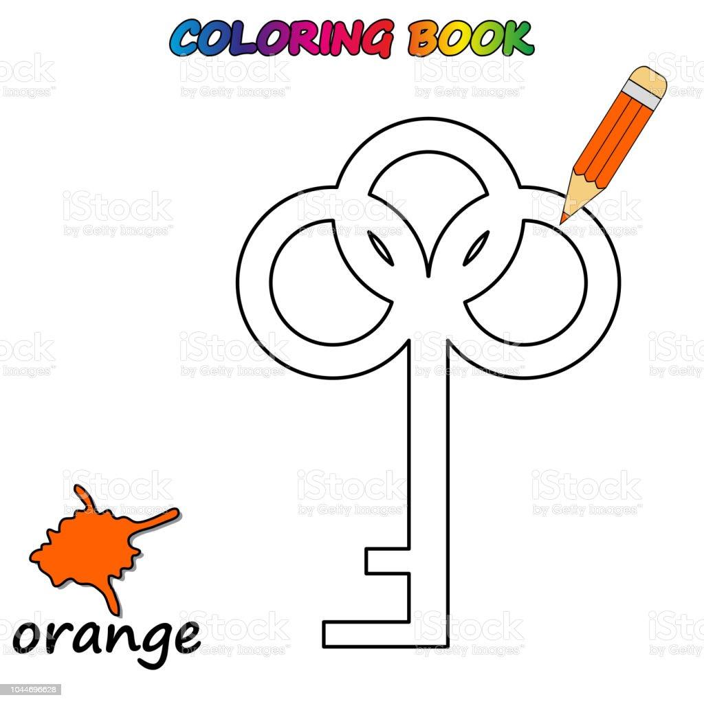 Ilustración De Libro Para Colorear Página Para Colorear De Educar A