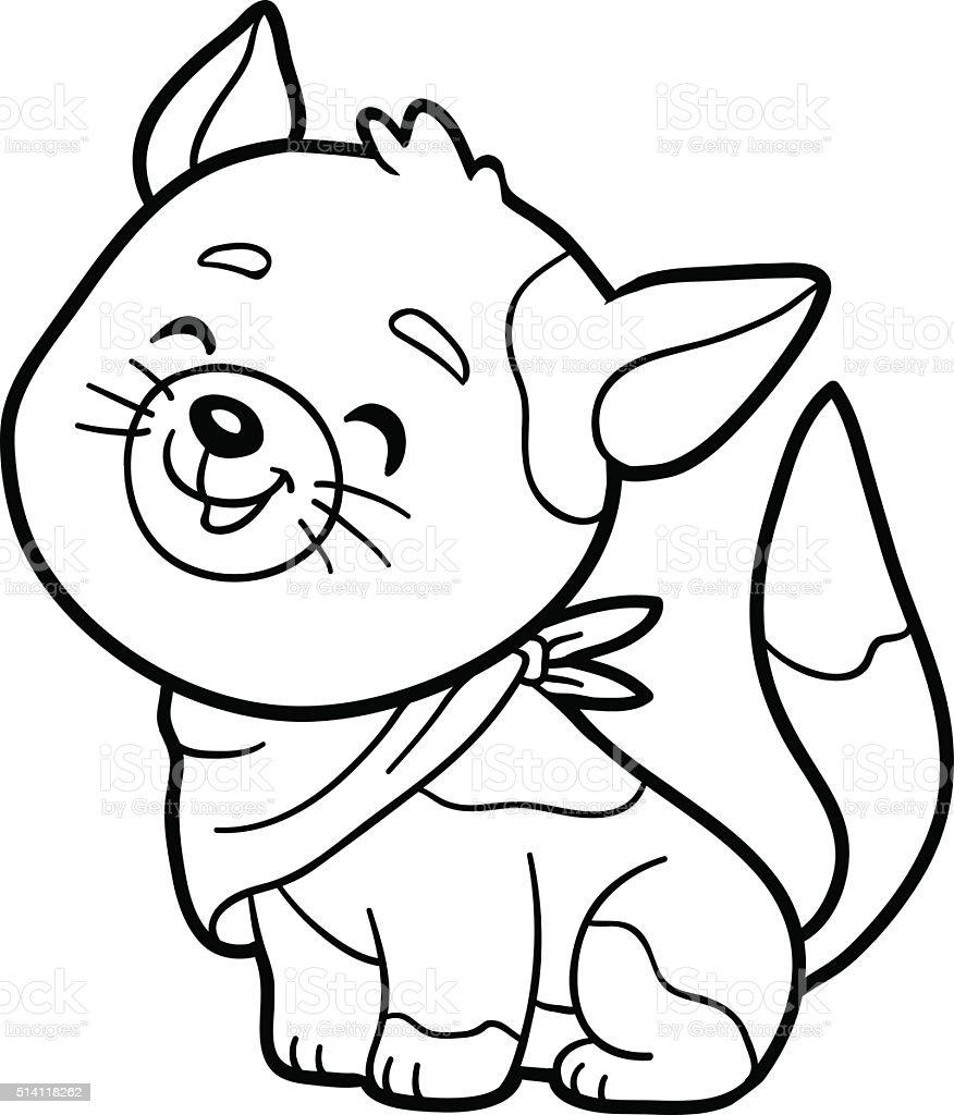 Ilustración de Colorear Libro Para Colorear Página Cat y más banco ...