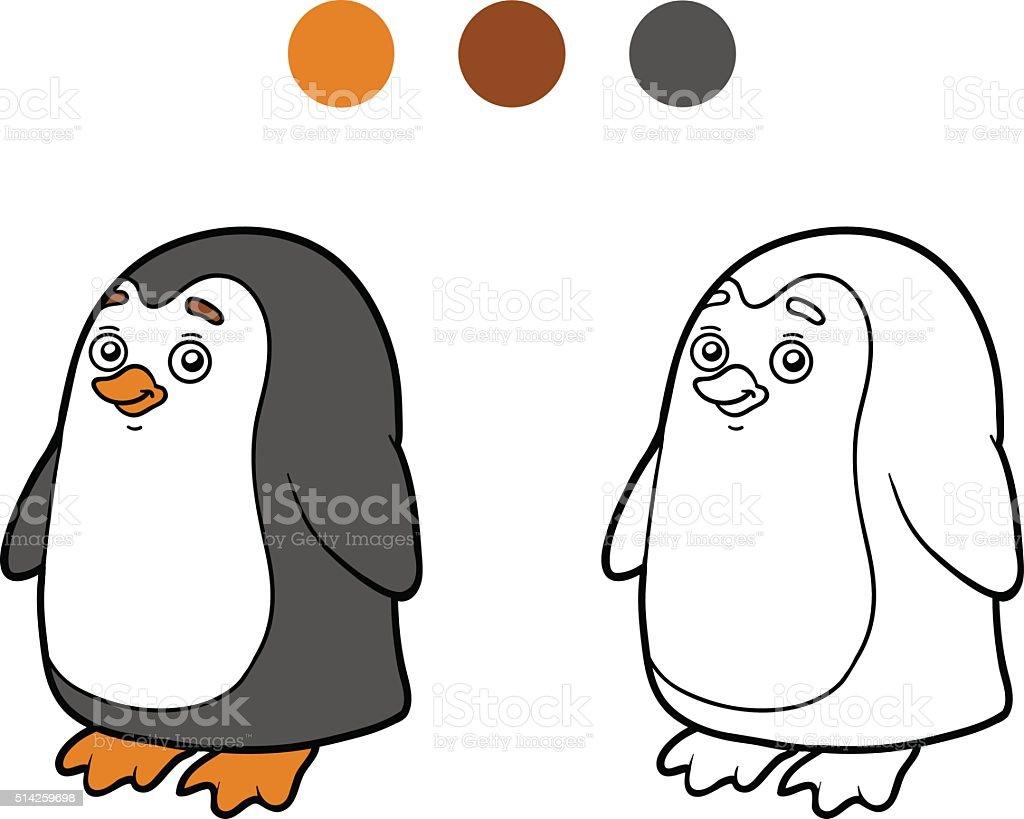 Ilustración de Colorear Libro Para Colorear Página Penguin y más ...