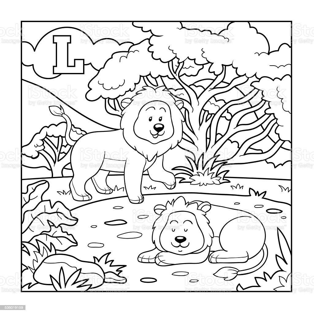Ilustración de Libro Para Colorear Incolora Alfabeto Para Niños ...