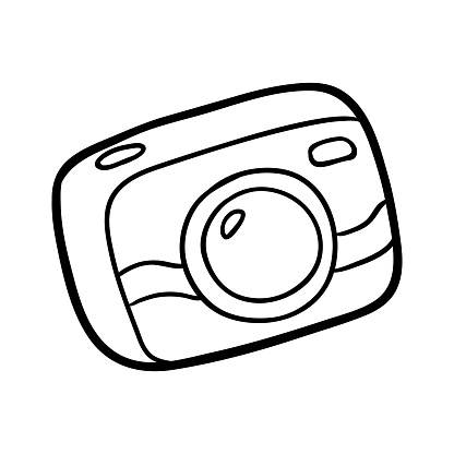 Boyama Kitabi Kompakt Fotograf Makinesi Stok Vektor Sanati