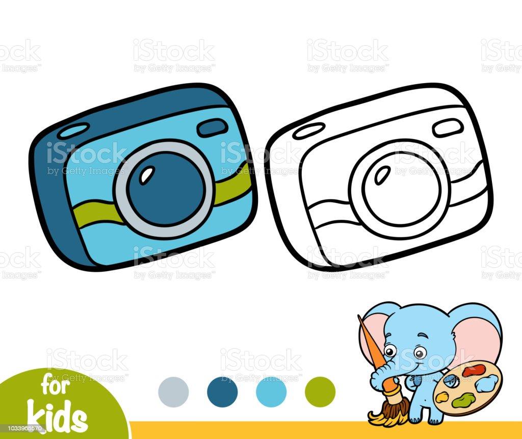 Livre De Coloriage Appareil Photo Compact Vecteurs Libres De Droits Et Plus D Images Vectorielles De Appareil Photo Istock