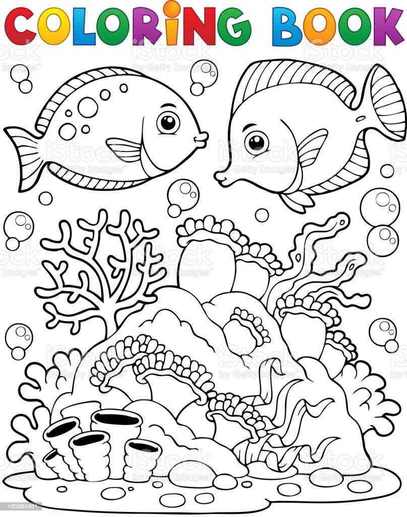 Ilustración de Libro Para Colorear Coral Reef Tema 1 y más banco de ...