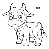 istock Coloring book, Cow 1175999732
