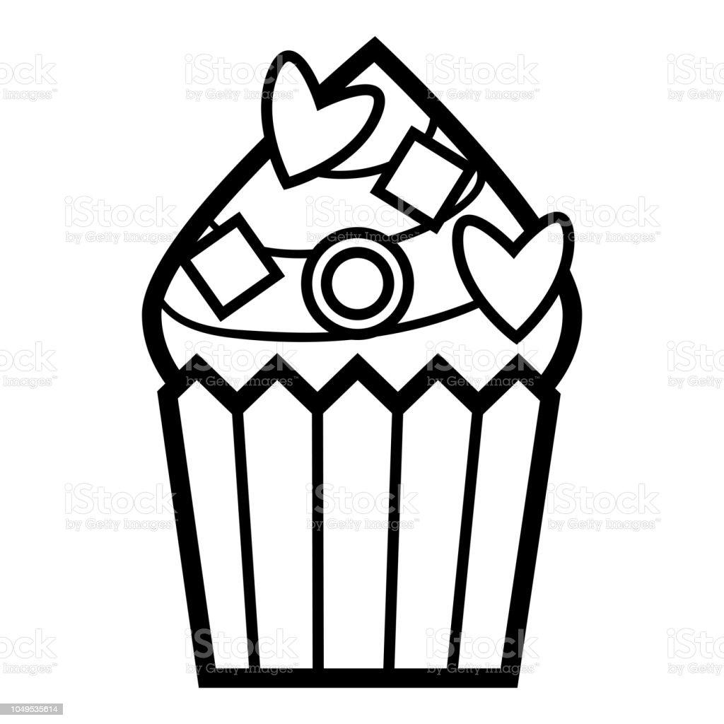 Livre De Coloriage Cupcake Vecteurs Libres De Droits Et Plus