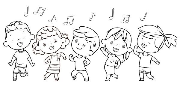 Coloring Book, Dancing children
