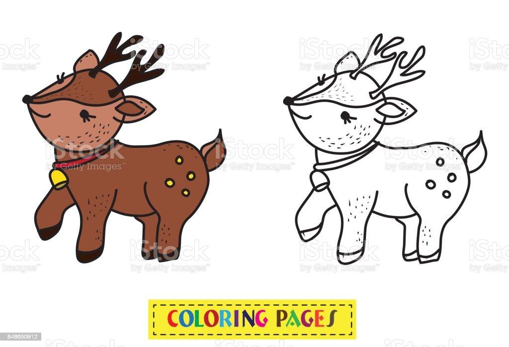 Ciervos De Libro Para Colorear - Arte vectorial de stock y más ...