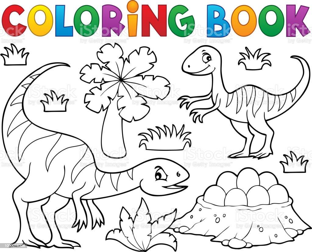 Boyama Kitabi Dinozor Konu Resim 1 Stok Vektor Sanati Antik Nin
