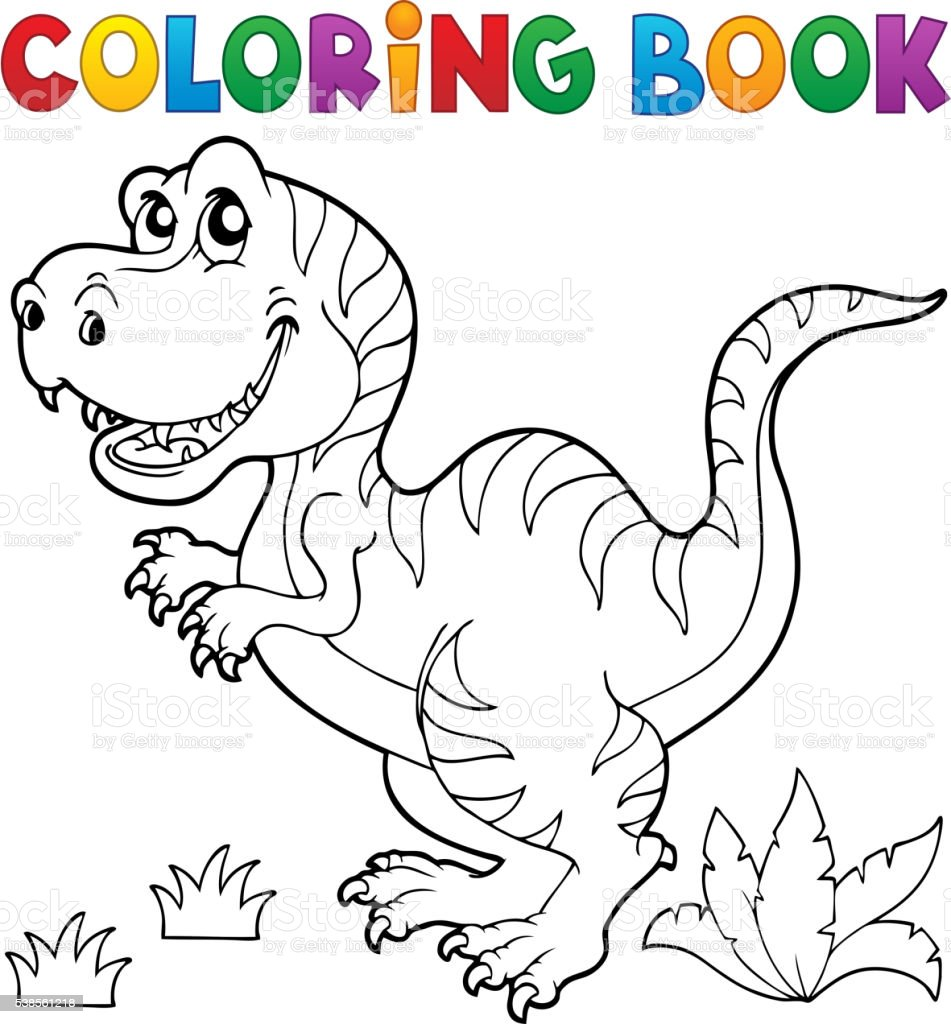 Coloring Book Dinosaur Theme 5 Stock Illustration Download Image