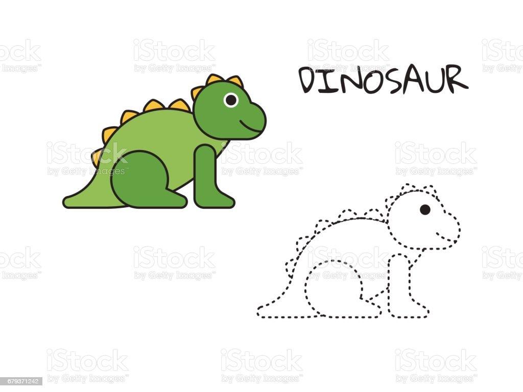 Coloriage Dinosaure Fossiles.Coloriage Dinosaure De Livre Vecteurs Libres De Droits Et Plus D