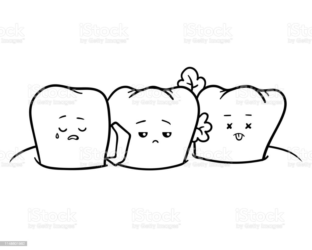 Coloring Book Dirty Teeth Stock Illustration - Download ...