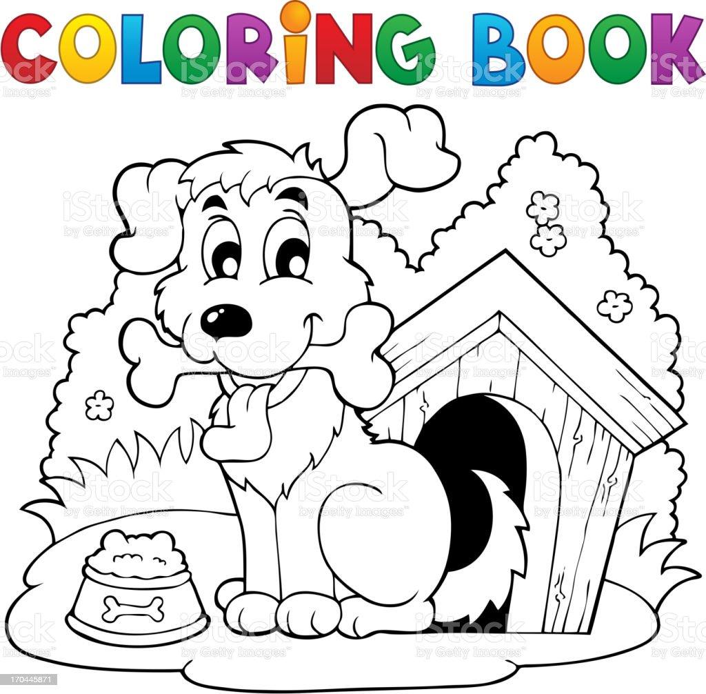 Libro Para Colorear Perro Tema 1 - Arte vectorial de stock y más ...