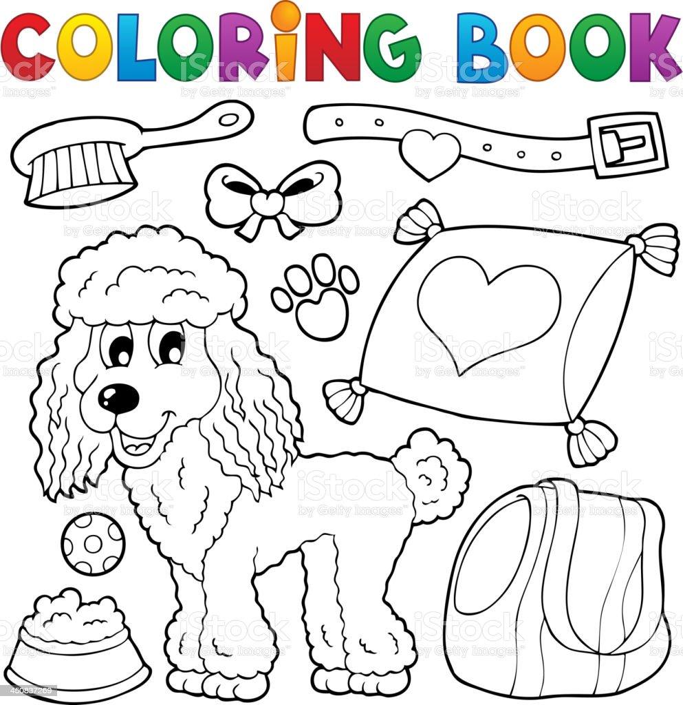 Libro Para Colorear Perro Theme 4 Illustracion Libre de Derechos ...