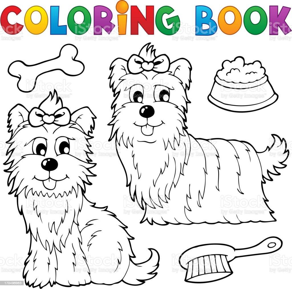 Livre De Coloriage Theme Chien 6 Vecteurs Libres De Droits Et Plus D