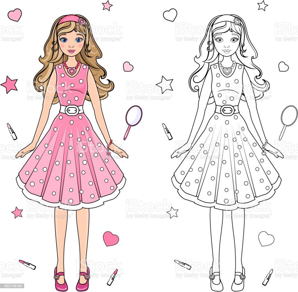 Coloring Book Doll Stok Vektör Sanatı Ayakkabınin Daha Fazla