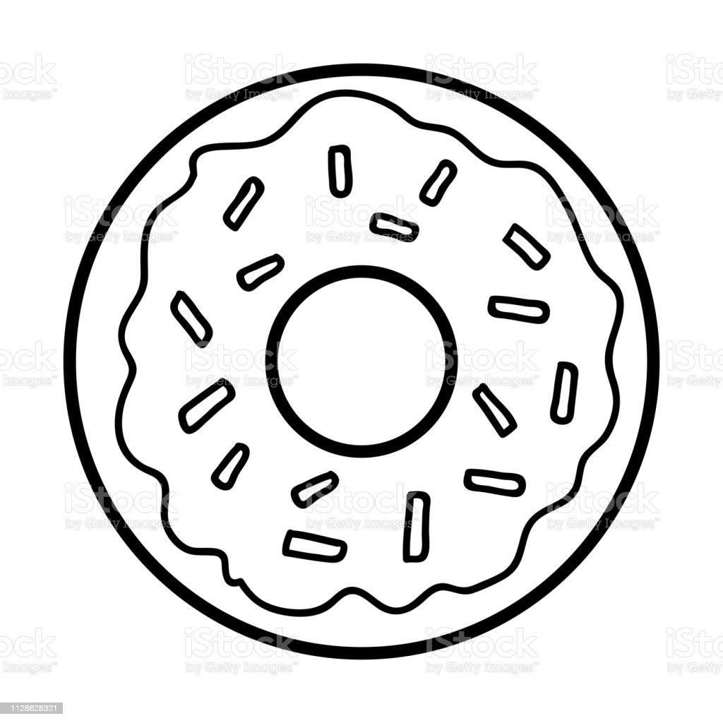 Livre De Coloriage Donut Vecteurs Libres De Droits Et Plus D