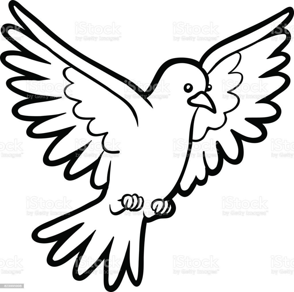 Boyama Kitabı Güvercin Stok Vektör Sanatı Anaokulunin Daha Fazla