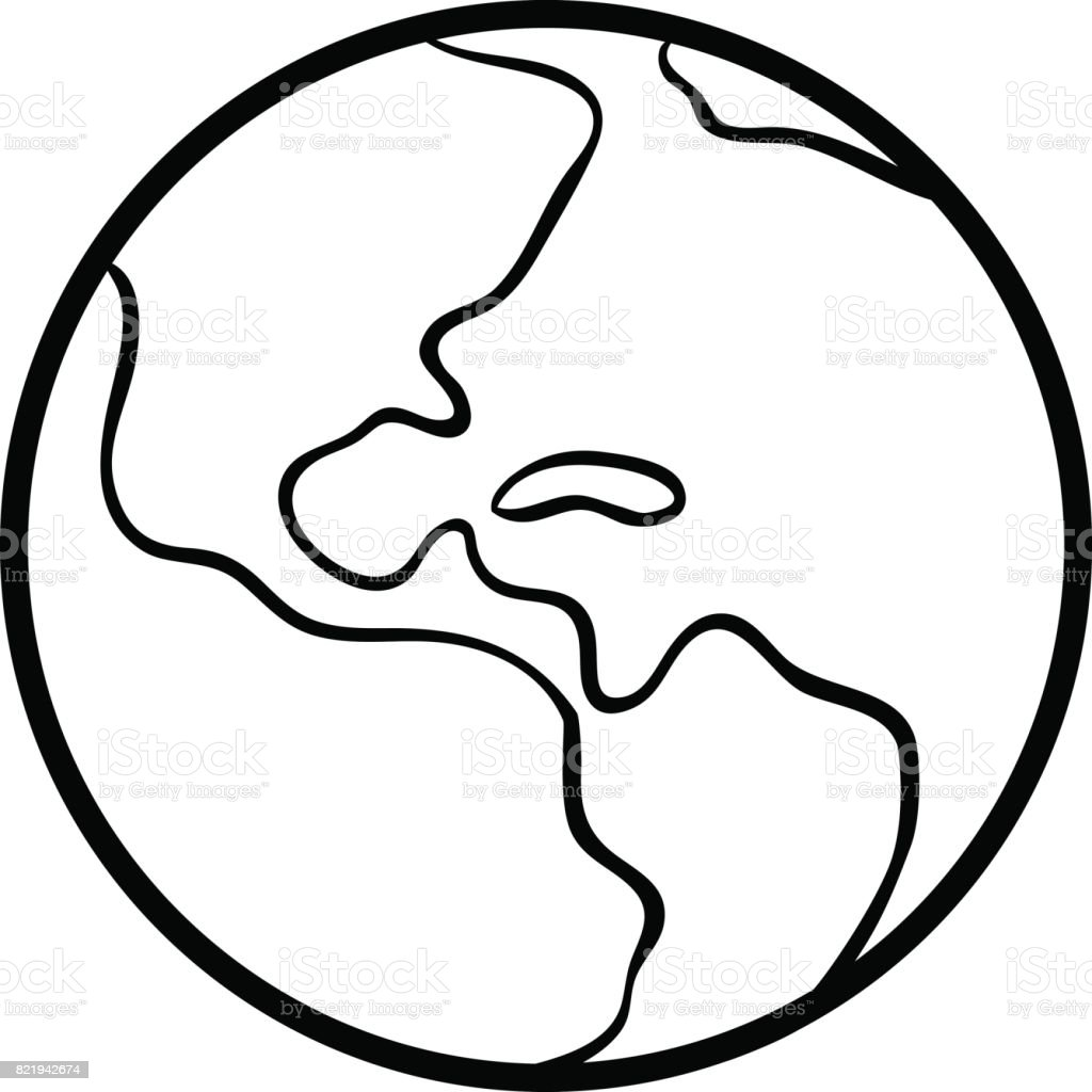 Coloring Book Earth Stock Illustration Download Image Now