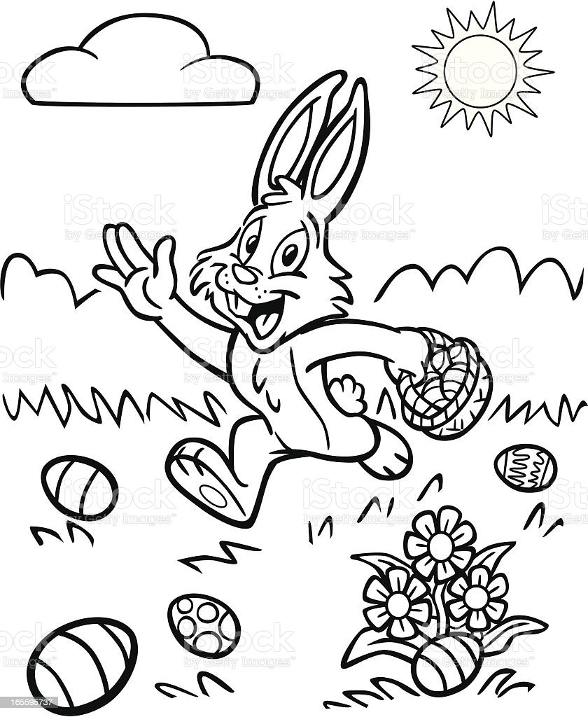 Libro Da Colorare Di Pasqua Coniglietto Immagini Vettoriali Stock