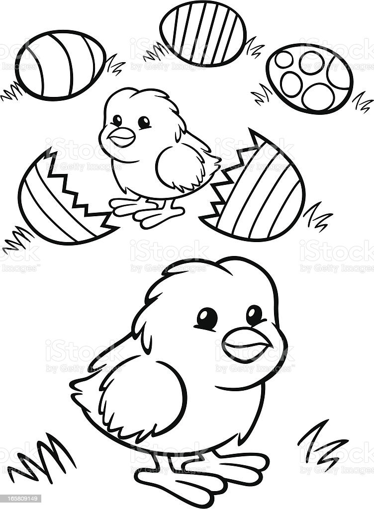 - Coloring Book Easter Chicks Stock Illustration - Download Image Now - IStock