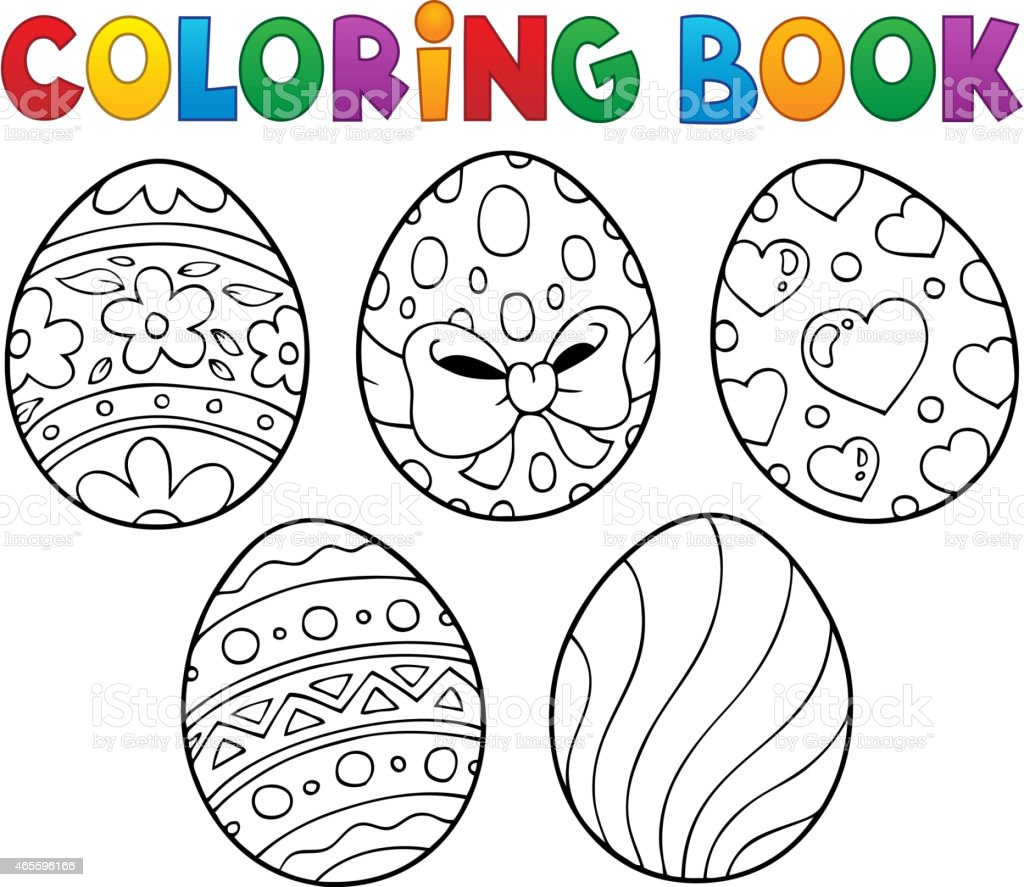 Ilustración De Libro Para Colorear Huevos De Pascua Estilo 1 Y Más