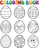 Coloring book Easter eggs theme 3 - eps10 vector illustration.