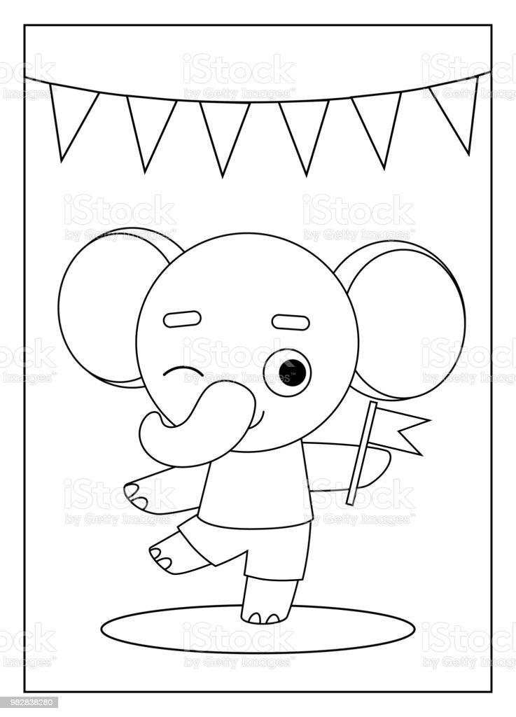 Großartig Malbuch Elefant Bilder - Framing Malvorlagen ...