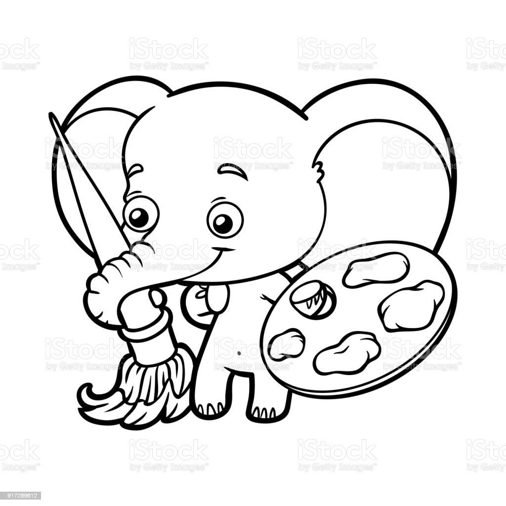 Lujo Colorear Elefante Colección - Enmarcado Para Colorear ...