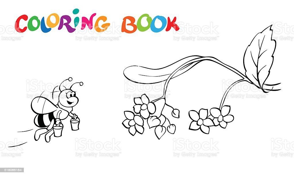 Ilustración de Libro Para Colorear Fanny Abeja Y Flores Ilustración ...