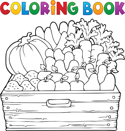 Coloring book farm products theme 1