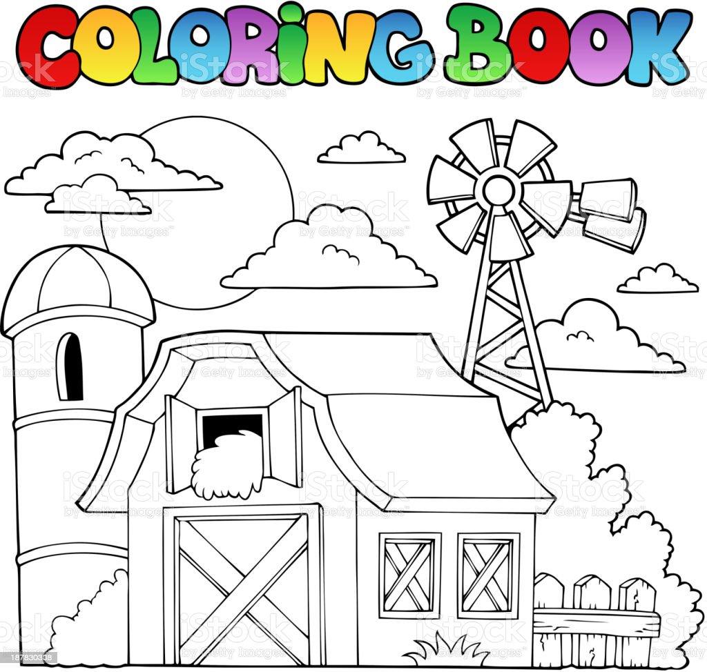 Ilustración de Libro Para Colorear Farm Tema 1 y más banco de ...