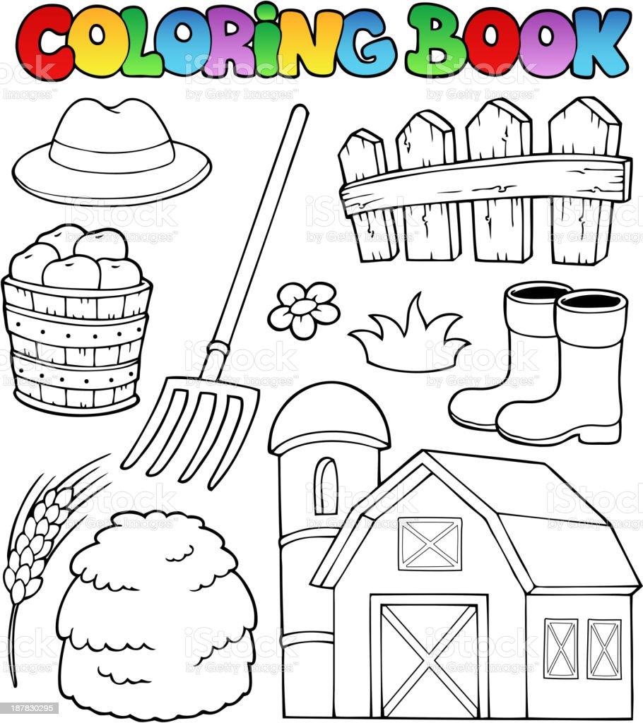 Coloriage Batiment Ferme.Livre De Coloriage Theme De La Ferme 2 Vecteurs Libres De Droits Et