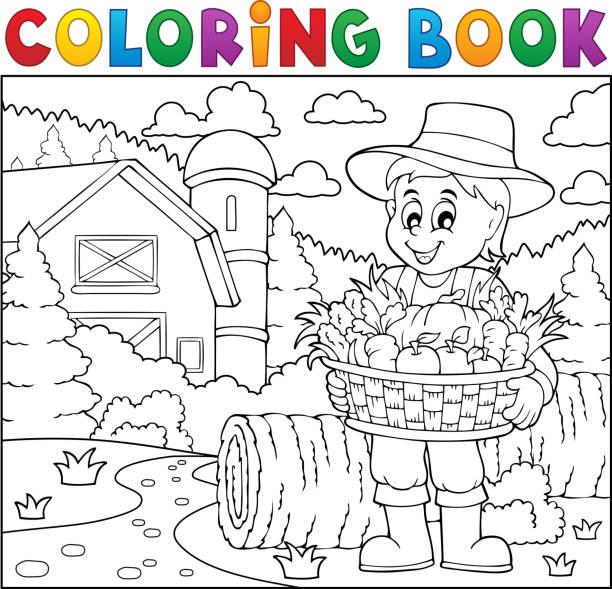 Vectores de Canasta Para Colorear y Illustraciones Libre de Derechos ...