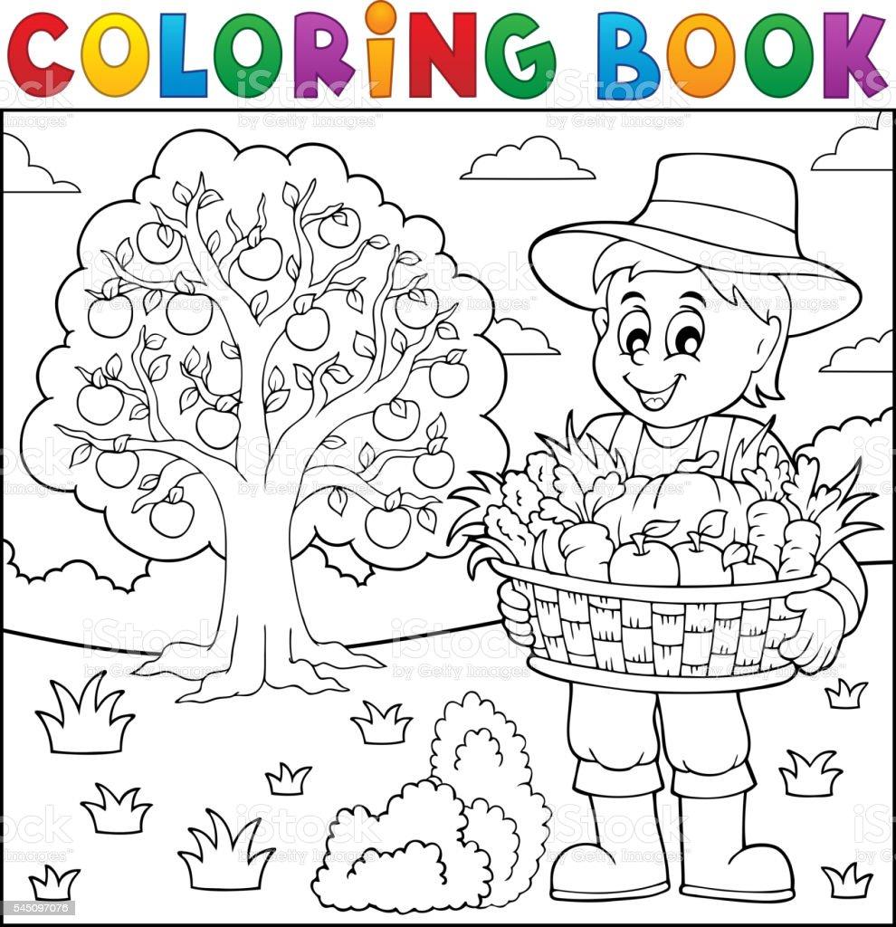 Coloriage Adulte Ferme.Livre De Coloriage Avec Ferme Recolte 3 Vecteurs Libres De Droits
