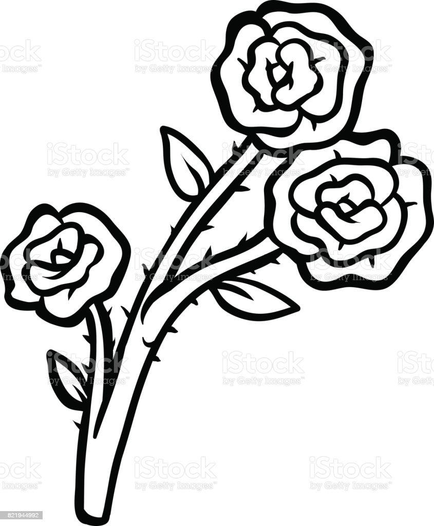 Libro Para Colorear Flor Rosa - Arte vectorial de stock y más ...