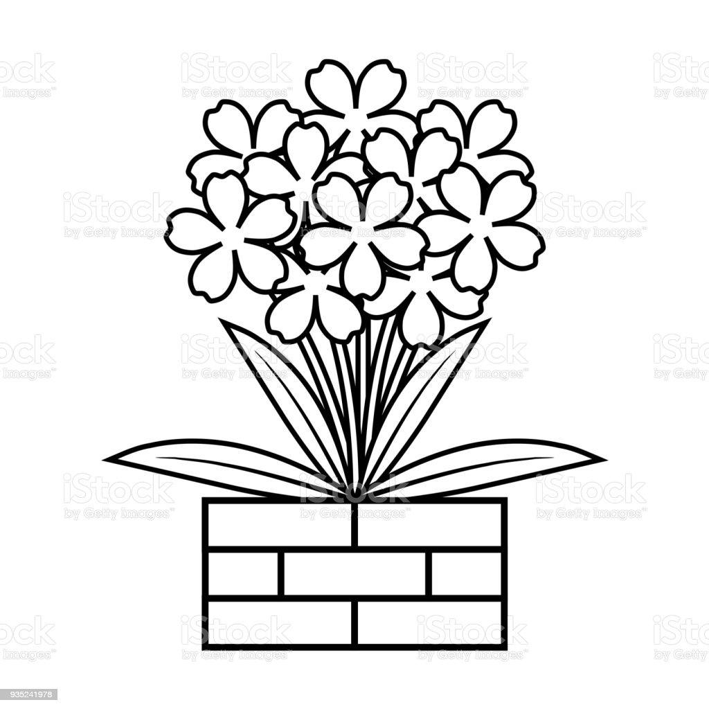 Kitap çiçek Boyama Stok Vektör Sanatı Animasyon Karakternin Daha