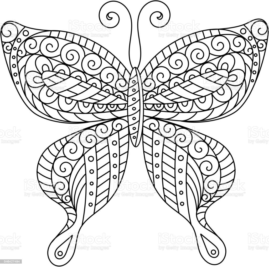 Coloring Book For Adult And Older Children Page Outline Drawing Royalty Free