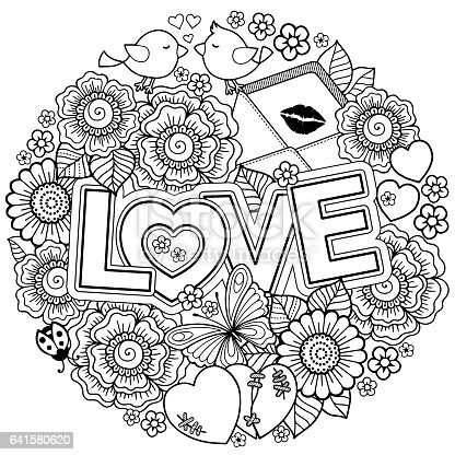 🔥 Imagen de libro para colorear para adultos. Diseño para ...