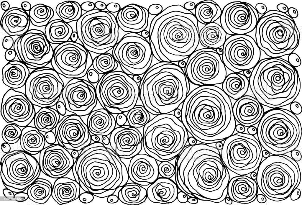 Ilustración de Libro Para Colorear Para Adultos Con Doodle Dibujos ...