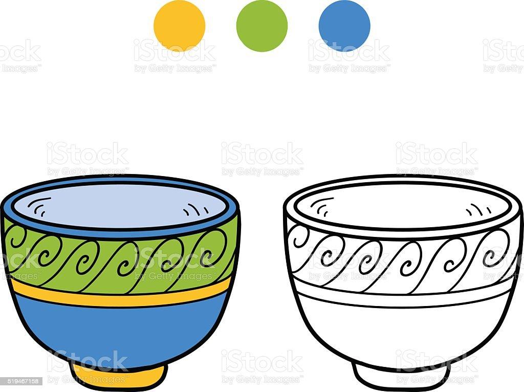 Ilustración de Libro Para Colorear Con Los Niños Una Taza Con Diseño ...