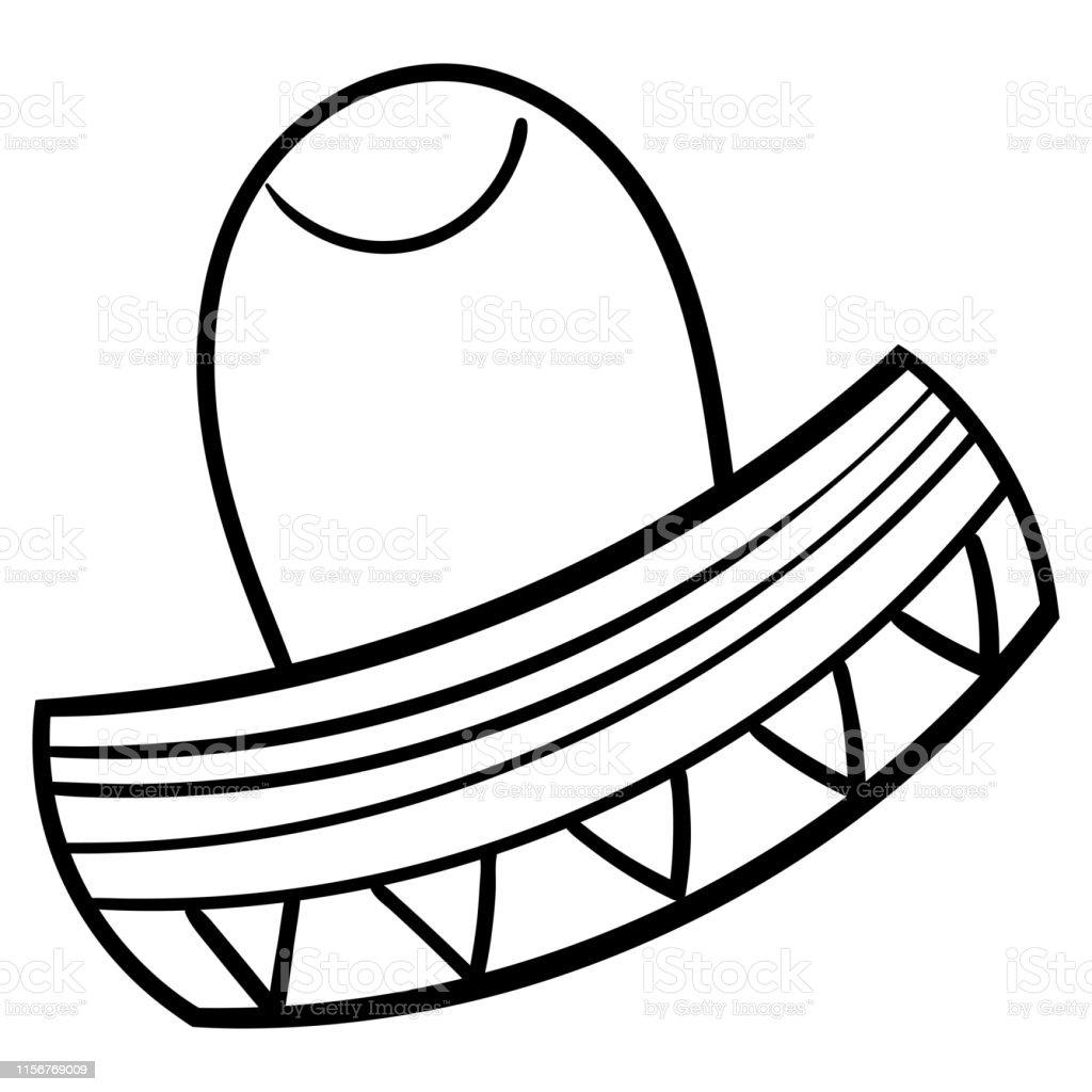 Ilustración De Libro Para Colorear Para Niños Sombreros De