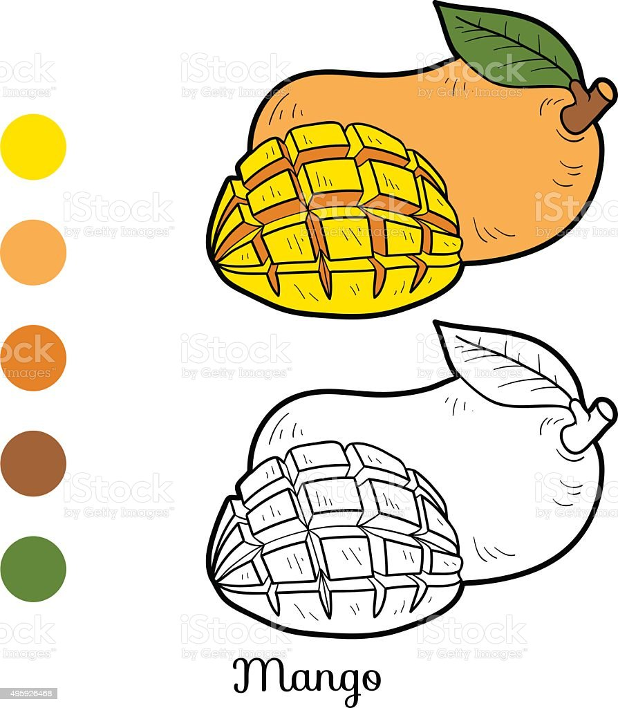 Amazing Coloring Book Fruits Composition