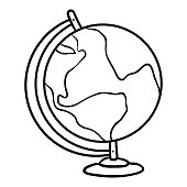 Coloring book for children, Globe