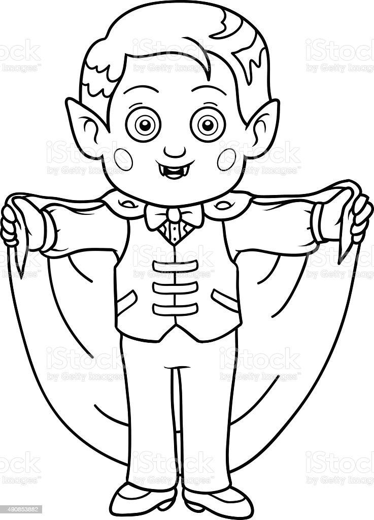 Ilustración De Libro Para Colorear Con Los Niños Halloween