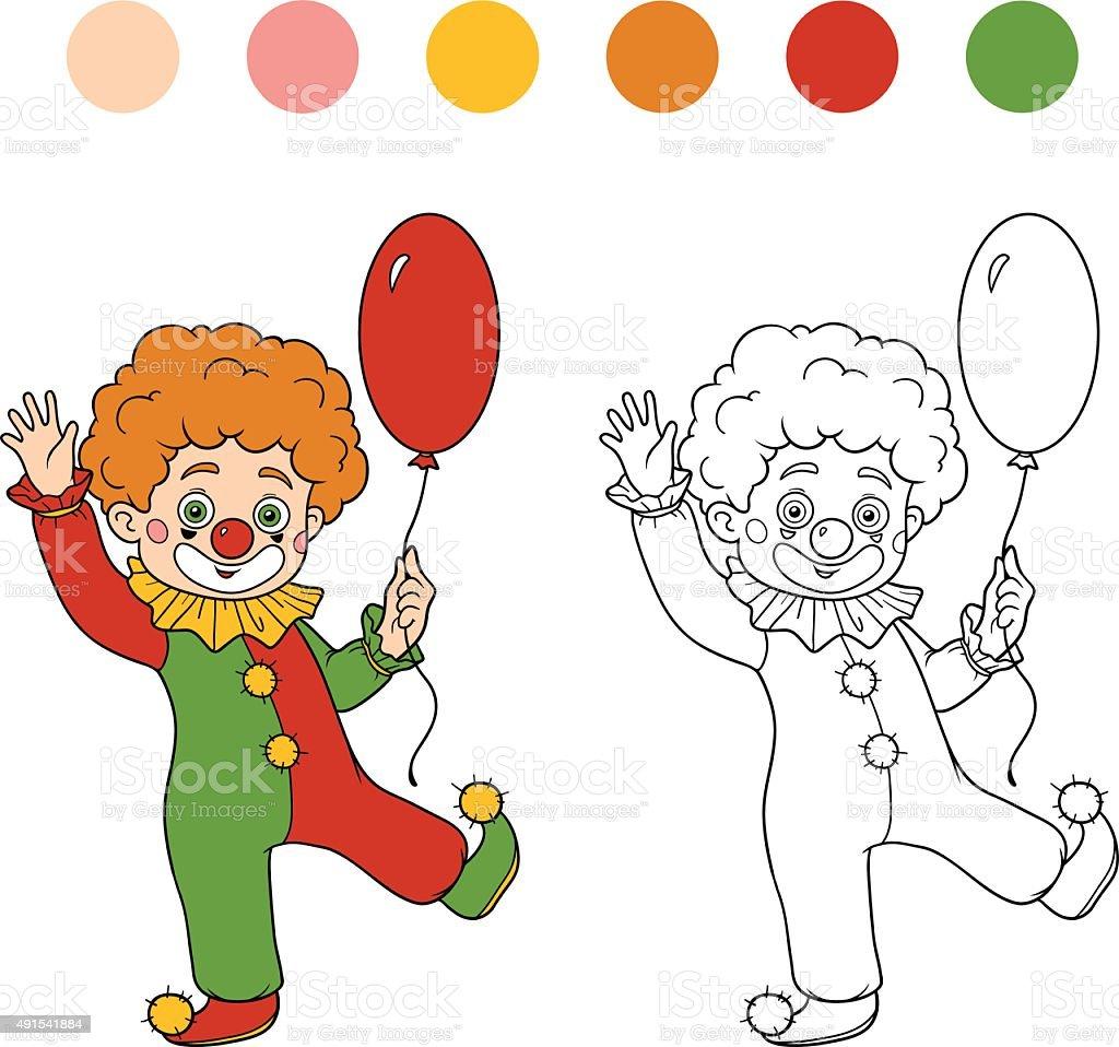 Libro Para Colorear Con Los Niños Halloween Caracteres Payaso - Arte ...