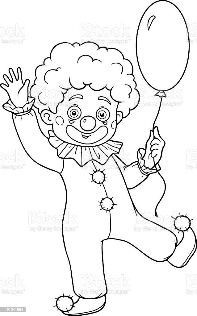 Libro Da Colorare Per Bambini Halloween Caratteri Clown Immagini