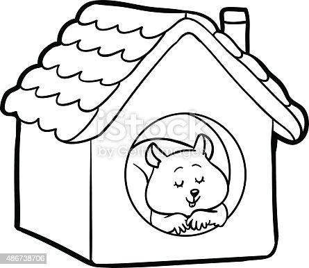 Livro De Colorir Para Criancas Hamster Arte Vetorial De Stock E