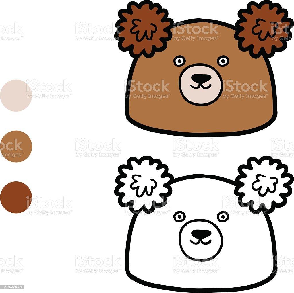 853f93cd5bbf1 Ilustración de Libro Para Colorear Con Los Niños Tejido Gorro De ...