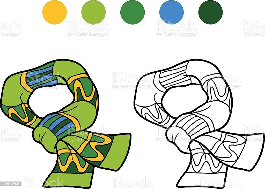 Ilustración de Libro Para Colorear Con Los Niños Tejido De Invierno ...
